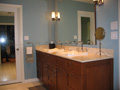Houston Memorial bath designed by kitchen & bath designer