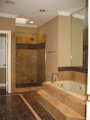 Houston Galleria shower with frameless glass