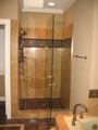 Houston shower with frameless glass