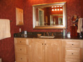 Houston bath clear sealed maple vanity cabinets