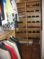 Owner designed closet space for shoes