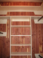 Houston Memorial cedar closet with painted shelves