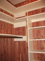 Houston Memorial cedar closet